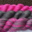 Silkmerino - 3 nyanser - Silkmerino - Mjuk blyerts & Pink