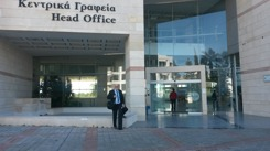 MSL in front of EAC's head office in Nicosia