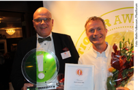Happy winners: Stefan Petersson and Tomas Wernant