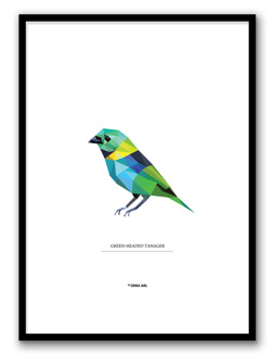GREEN-HEADED TANAGERPOSTER