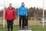 Vinnare Emma Svensson tillsammans med tvåan Joakim Engdahl.