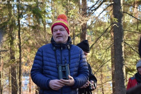 Stefan Bleckert höll i den åriliga uggleexkursionen.