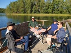 Katarina, Olof, Thomas och Cilla. (Robin kunde dessvärre inte vara med. ) Foto: Olle