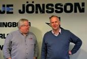 Ulf Jönsson, VD, och Jonas Sjöstedt, Partiledare för Vänsterpartiet