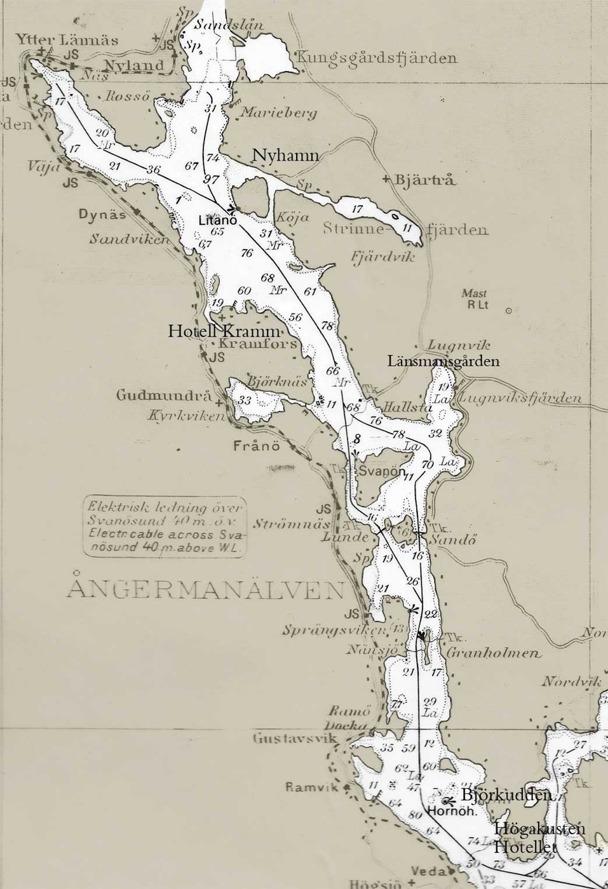 Karta över Ångermanälven