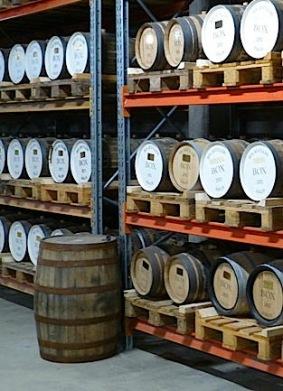 Tunnor för lagring av Whisky hos BOX Destilleri