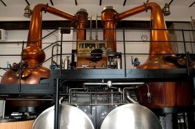 Destilleringsapparat hos High Coast Destillery