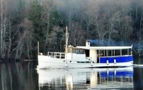 En av våra båtar på Ångermanälven