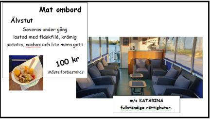 Meny för våra båtturer på Ångermanälven