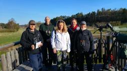 Laget samlat i tornet: Sören Bevmo,  Jonas Svedlund, Majna Gemsjö, Tom Arnbom och Yvonne Blombäck.