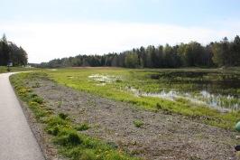 Hemmesta sjöäng sedd från gångvägen norr om sjön. Foto: Eva Stenvång Lindqvist