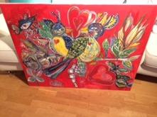 SÅLD Titel: Bird Typ: Målning Teknik: Olja Storlek: 100cm x 80cm