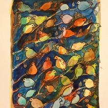 12.Fågelmyller akvarell 29x19