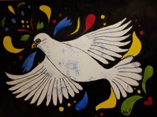 """Pray for peace"" Akvarell 30x23"
