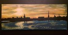 """Stockholm""  Akryl 20x50"