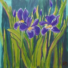 """Iris"" akryl   30x30"
