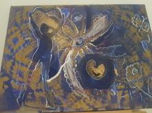 Dance love 30 x 30 olja och acryl