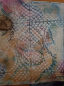 HORSEHEART 30 × 30 blandteknik olja , torrpastell och akryl