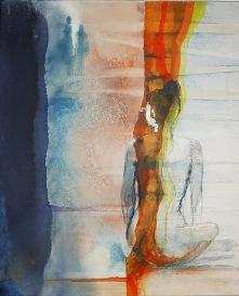 "Original: Akvarell/struktur ""Are you leaving me""?  2500:- Giclèe 50x70 cm 6/10"