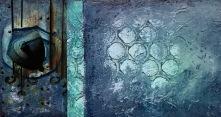 """""""The Mystery of Awaij Island"""" 80 x 50 cm Mixed media 7000:-"""