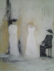 Kvinnan i svart     48 x 57 cm   4.000 kr