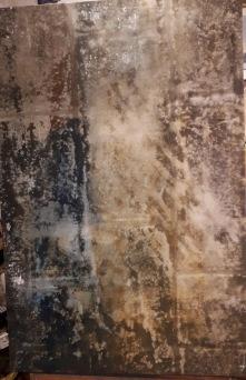 Akryl & metall löv 68x100