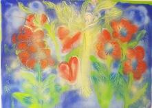 Akryl passion flower