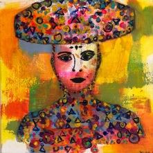 Keep it up girls ! Frida Kahlo med confetti. 30• 30 acryl