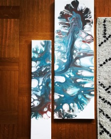 Monstera, 32x71 cm, kanvas, akryl, 700: -