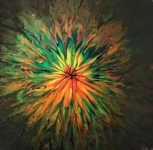 Colour abyss, 30x30 cm, kanvas fernissad, akryl, 900: -