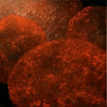 Hortensia 100x100 cm akryl 12000:- såld