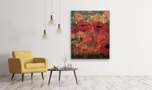 Pavot 120x150 akryl 12000:- såld