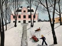 Ängby Slott en vinterdag