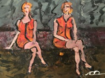 Orangea klänningar