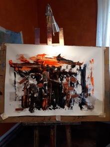 Oil and Acrylic on canvas 98x69