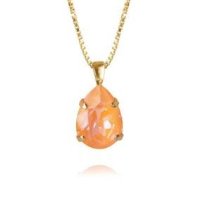Mini Drop Necklace / Peach Delite - Mini Drop Necklace Gold / Peach Delite