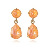 Mini Drop Earrings / Peach Delite