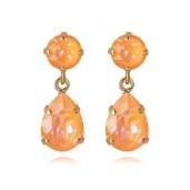 Mini Drop Earrings / Peach Delite