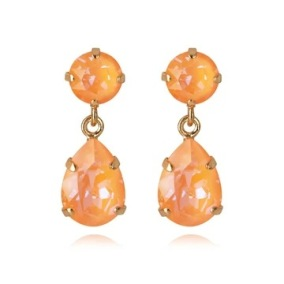 Mini Drop Earrings / Peach Delite - Mini Drop Earrings Gold / Peach Delite