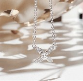 Sparkling ellipse mini halsband