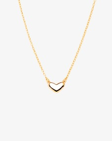 LOVING HEART MEDIUM SINGLE NECKLACE GOLD