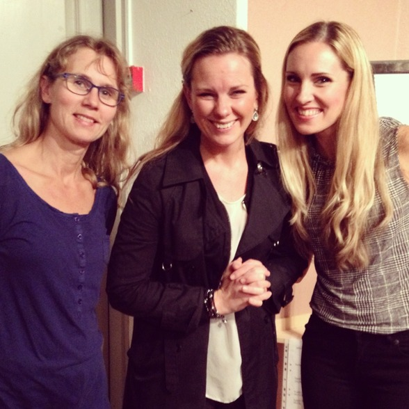 Three sopranos....Eva Ericsson Berglund, Elin Skorup and me! Happiness after concert!