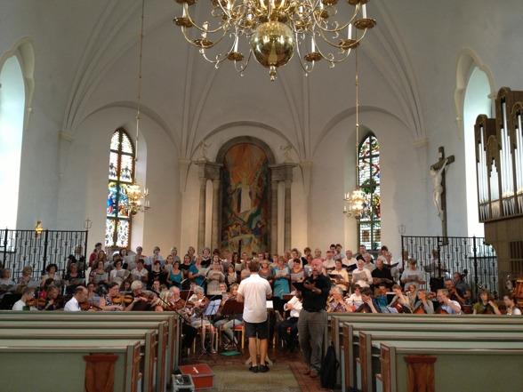 Rehearsal in Sunne kyrka.