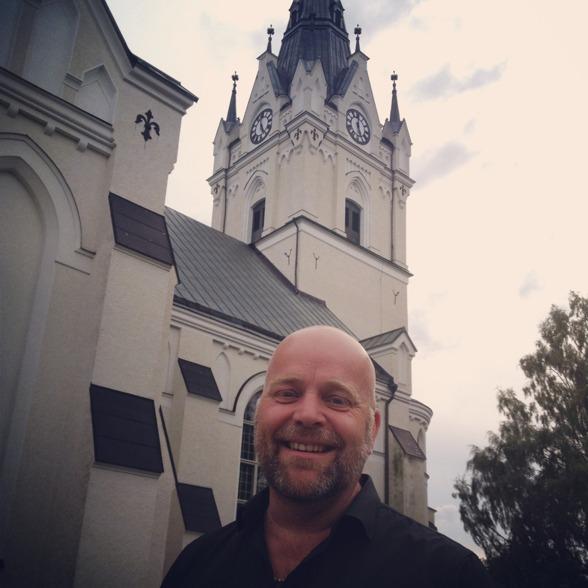 Tomas Bergström at Sunne kyrka.