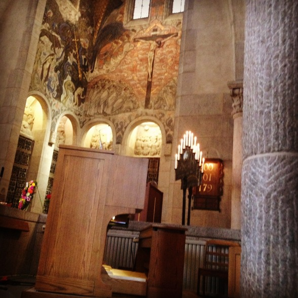 Engelbrekt Church from the inside!