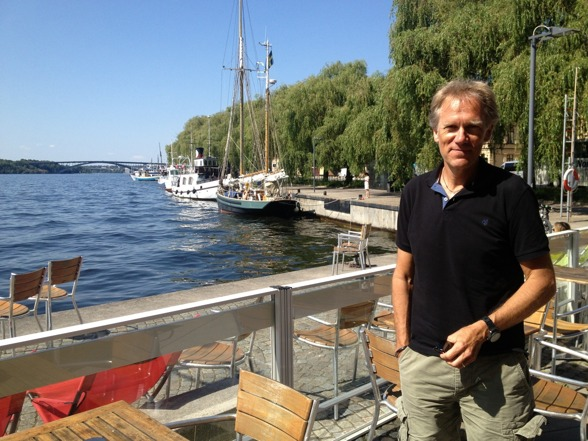 Anders Neglin by the beautiful water side nearby the Stockholm City Hall!