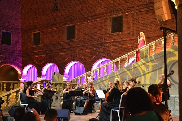 My stage entrance yesterday night in the Stockholm City Hall. Stråkkapellet String Orchestra playing!