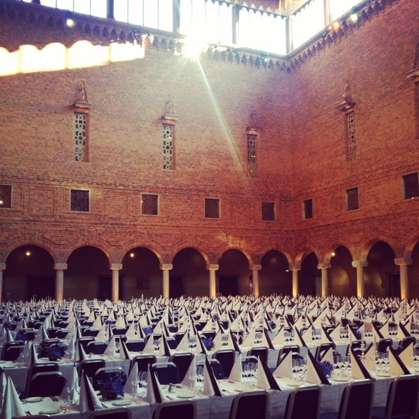 The Stockholm City Hall prepared for the banquet!