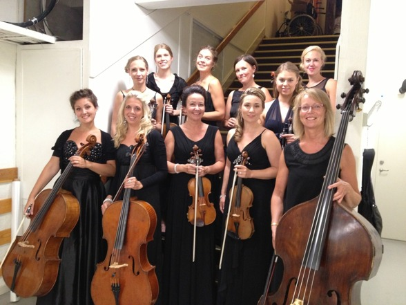 Wonderful musicians of Stråkkapellet String Orchestra!