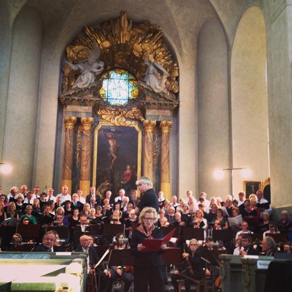 Marie Göranzon reciting Förklädd gud.